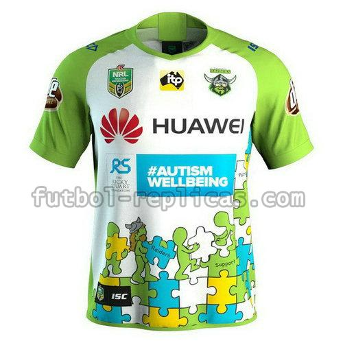 camiseta rugby canberra raiders 18-19 blanco hombre