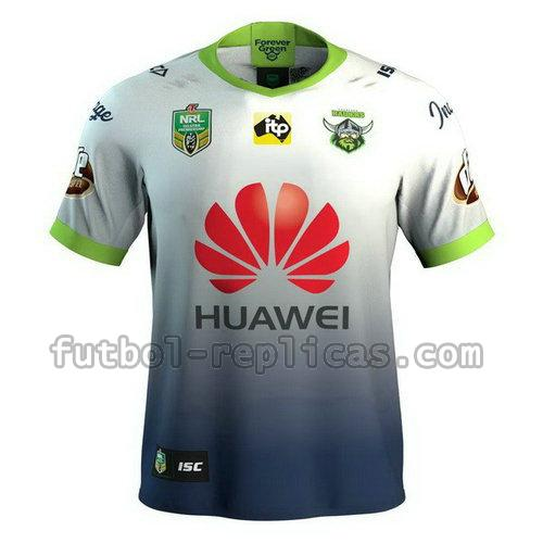 camiseta rugby canberra raiders 2018 blanco azul hombre
