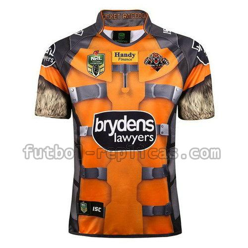 camiseta rugby wests tigers 2017-2018 amarillo hombre