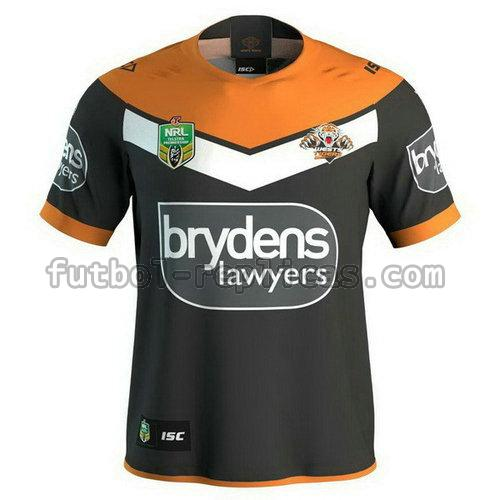 primera camiseta rugby wests tigers 2018 negro hombre