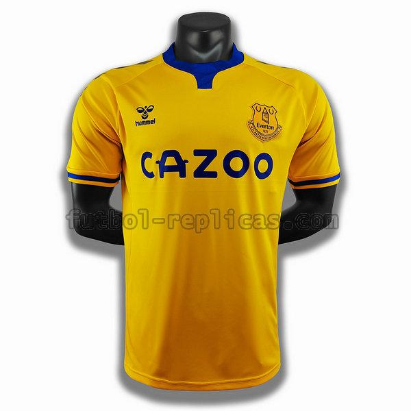 segunda player camiseta everton 2020-2021 amarillo hombre