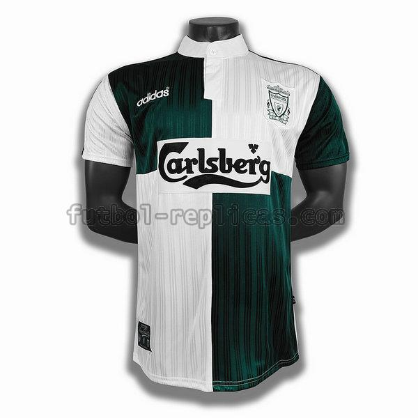 segunda player camiseta liverpool 1995 verde blanco hombre
