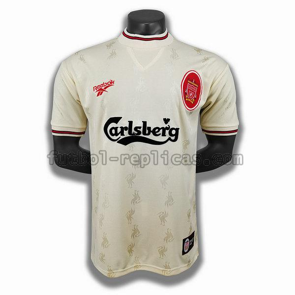 segunda player camiseta liverpool 1996 blanco hombre