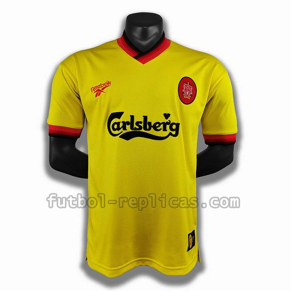 segunda player camiseta liverpool 1998 amarillo hombre