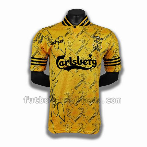 tercera player camiseta liverpool 1994 1996 amarillo hombre